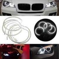 Xenon Headlight 3528 LED Angel Eyes Halo Rings Kit For BMW E60 E39 E90 E46 E38
