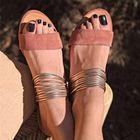 Meilleurs prix Women Plus Size Open Toe Casual Summer Beach Flat Sandals