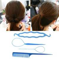 Lady Hair Twist Styling Clip Stick Bun Maker Braid Hair Accessories Tool