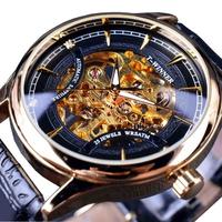 WINNER F120520 Self-winding Mechanical Watch Fashion Leather Strap Men Wrist Watch