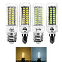 E14 E27 7W 72 SMD 5730 Warm White Pure White LED Corn Light Bulb for Home Decoration AC220V