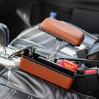 Acheter au meilleur prix PU Car Seat Crevice Gap Storage Box Organizer Holder with Elbow Support Armrest Cushion Pedal