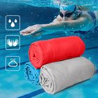 Meilleurs prix Portable Size Outdoors Quick Dry Travel Towel Compact Solid Color Microfiber Towel for Camping Sport Gym Swimming