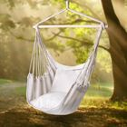 Acheter au meilleur prix Outdoor Leisure Swing Chair Indoor Rocking Chair Canvas Hammock For Camping Hiking Picnic - White