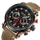Meilleurs prix MEGIR 2085 Military Date Chronograph Leather Men Watch