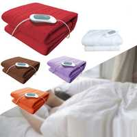 150X75 Electric Heated Throw Over Blankets Fleece Washable Warm Mattress