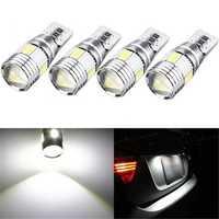 T10 W5W 5630 LED Car Side Marker Lights Canbus Error Free Wedge Bulb Lamp 12V 2.5W White 4Pcs