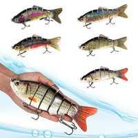20cm 110g 6 Segments Fishing Lure 3D Eyes Swimbait Crankbait Isca Artificial Hard Bait Wobblers