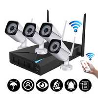 4CH Wireless Wi-Fi 1080P IP Camera HDMI NVR Outdoor Home Security IR CCTV Camera System