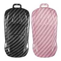 Carbon Fiber Car Key Case/bag Protector Cover Remote Control Bag for VW Golf Bora Jetta POLO Passat
