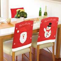 Santa Claus Christmas Chair Cover Event Party Christmas Snowman Dinner Chairs Cover Home Decor
