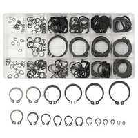 Suleve™ MXMR1 300Pcs 3-32mm Assorted External Circlip Snap Ring C-Clip Repairs Parts Case Box