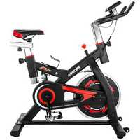 Merax S501 Indoor Cycling Bike Belt Drive Exercise Bike with 28 lbs Flywheel Exercise Tools Led Player
