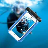 IPX8 Waterproof Cell Phone Sealed Bag Pouch with Arm Band for Phone Under 6 Inches Phone