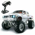 Offres Flash HG P407 1/10 2.4G 4WD Rc Car for TOYATO Metal 4X4 Pickup Truck Rock Crawler RTR Toy