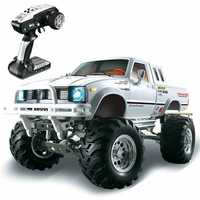 HG P407 1/10 2.4G 4WD Rally Rc Car for TOYATO Metal 4X4 Pickup Truck Rock Crawler RTR Toy