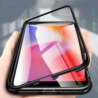 Bakeey 360° Magnetic Adsorption Metal Tempered Glass Flip Protective Case for Xiaomi Redmi 6A