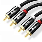 Meilleurs prix Unnlink HIFI 2RCA to 2 RCA Data Cable OFC AV Audio Cable For TV DVD Amplifier Subwoofer Soundbar Speaker Wire