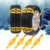 Winter Outdoor Emergency Anti-skid Snow Tyre Chains TPU Car Tire Chain Belt