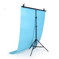 2x2M T-type Adjustable Backdrop Photography Background Support Stand Holder