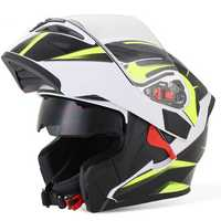 Motorcycle Dual Lens Full Face Helmet Motocross Racing Safety MOTOWOLF 902