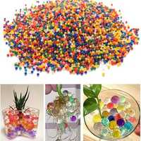 10000PCS/Bag Pearl Shaped Crystal Soil Magic Growing Jelly Balls Hydrogel Gel Polymer Water Beads for Plant Flower Home Decor Kids Toy Gun Bullets Vase Fillers