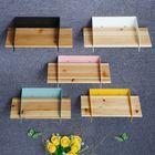 Meilleurs prix 5 Color 20CM Floating Wall Mounted Shelf Hanging Holder Storage Iron Wood Display Bookshelf Bracket