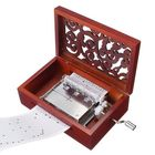 Acheter au meilleur prix 30 Tone DIY Hand Cranked Carved Music Box With Hole Puncher Paper Tapes