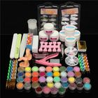 Meilleurs prix 42 Colors Nail Art Set Manicure Kit Gel Polish Acrylic Glitter Powder File Tips Decoration Display