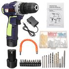 Meilleurs prix 12V 78 in 1 Electric Cordless LED Screwdriver Drills Bits Rechargeable Reversible Drill Tools Kit