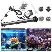 AC110-120V/220-240V RGB 32CM SMD5050 IP68 Fish Tank Submersible Air Aquarium LED Rigid Strip Light