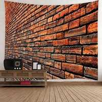 Art Brick Stone Pattern Psychedlic Tapestry Bedroom Bedspread Wall Hanging Throw