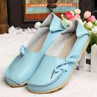 Meilleur prix US Size 5-13 New Women Soft Comfortable Lace-Up Flat Loafers Breathable Casual Leather Flats Shoes