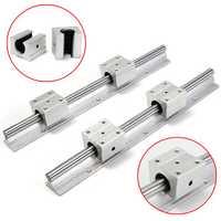 2pcs SBR12-300mm Supported Rails With 4pcs SBR12UU Pillow Bearing Blocks