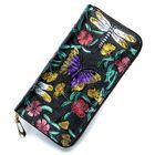 Discount pas cher Brenice Women Embossing Rose Floral Zipper Card Holder Coin Purse Long Wallet