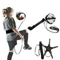 Football Kick Trainer Skill Soccer Training Equipment Adjustable Waist Belt