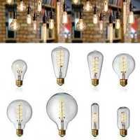E27 Dimmable COB LED Vintage Retro Industrial Edison Lamp Indoor Lighting Filament Light Bulb AC220V