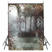 5x7FT Vinyl Retro Flower Fairy Tale Photography Background Backdrop Photo Prop