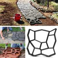 45cm DIY Plastic Garden Path Maker Mold Manually Paving Cement Brick Stone Road Auxiliary Tool