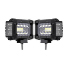 Meilleurs prix 3.5 Inch 72W LED Work Light Bar Side Shooter Flood Spot Combo Beam 2Pcs for Jeep Offroad ATV SUV