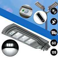 60W 120 LED Solar Radar Motion Activated Sensor Wall Street Light for Outdoor