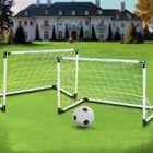 Acheter au meilleur prix 2 Mini Set Football Soccer Goal Post Net + Ball + Pump Kids Outdoor Sport Training
