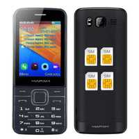 MAFAM M11 2.8 Inch HD Large Screen 1800mAh 64MB+64MB 4 Sim Cards 4 Standby FM GPRS Feature Phone