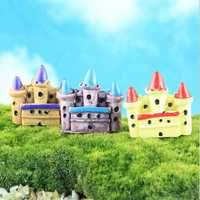 Mini Castle Figurine Statue DIY Bonsai Craft Gardening Decoration Micro Landscape Ornament