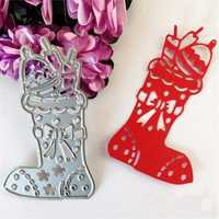 Christmas Socks Gift Template Cutting Dies Scrapbooking DIY Album Paper Cards Decoration