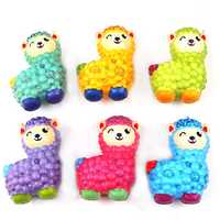 10.5*7.5cm Squishy Alpaca Random Color Soft Slow Rising Toy With Packing Bag