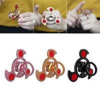 Aluminum Alloy Colorful Ring Shape Rotating Fidget Hand Spinner EDC Fingertips Reduce Stress Toys