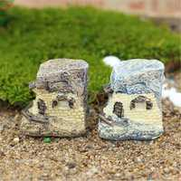 Micro Thatched Cottage Ornaments Potted Plant Landscape Garden DIY Decor