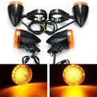 Meilleurs prix 2pcs Front 2pcs Rear Motorcycle LED Turn Signal Light 41mm Fork Clamp For Harley