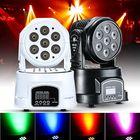 Meilleurs prix 70W RGBW DMX512 LED Moving Head Stage Lighting DJ Club Disco Xmas Party Lamp